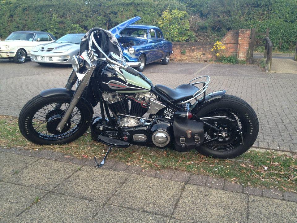 Calvin's Harley bobber.